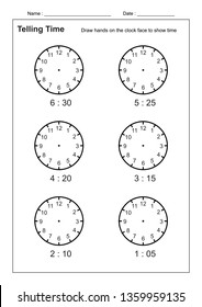 Telling Time Images, Stock Photos & Vectors | Shutterstock