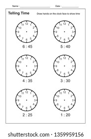 Tell Time Images, Stock Photos & Vectors   Shutterstock