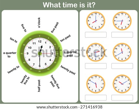 Telling time worksheet write time shown stock vector royalty free telling time worksheet write the time shown on the clock ibookread ePUb