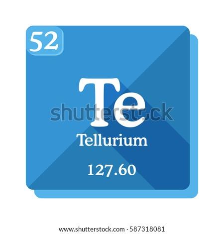 Tellurium Te Element Periodic Table Flat Stock Vector Royalty Free