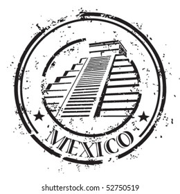 Tempel in Mexico, stamp