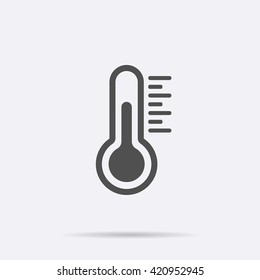 Temperature flat vector icon. Chill symbol concept isolated. Medicine thermometer. Weather, hot and cold climate in trendy style for web site, mobile app design. Logo illustration.