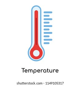 Temperature icon vector isolated on white background for your web and mobile app design, Temperature logo concept
