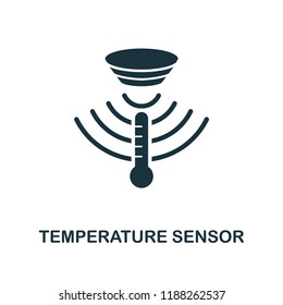 Temperature Sensor icon. Monochrome style design from sensors collection. UX and UI. Pixel perfect temperature sensor icon. For web design, apps, software, printing usage.