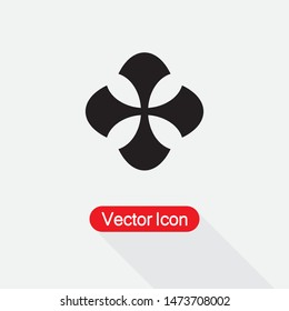 Templar cross Icon,Cross Icon Vector Ilustration On Light Gray Background Eps10