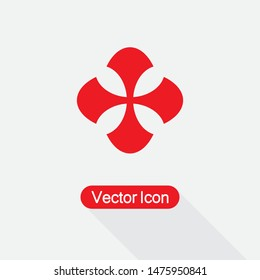 Templar cross Icon,Cross Icon Vector Illustration On Light Gray Background Eps10