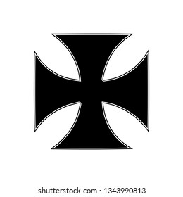 Templar knights cross, vector design