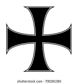 Templar knights cross, vector design