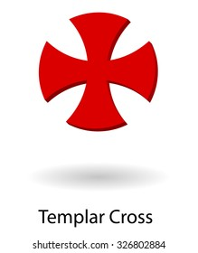 Templar symbol vector silhouette isolated over white background