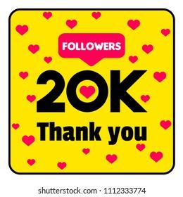 template 20k followers thank you banner