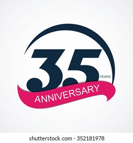 Template 35 Anniversary Vector Illustration EPS10