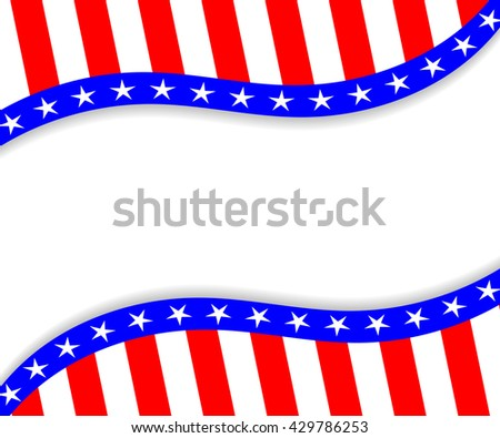 template 4th july usa independence day stock vector royalty free