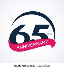 Template 65 Anniversary Vector Illustration EPS10