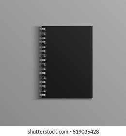 Template for advertising, branding and corporate identity. Realistic spiral notepad. Blank mockup for design. Vector object. EPS 10