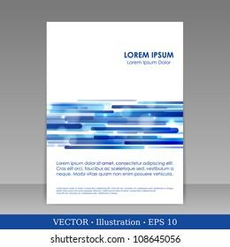 Template for advertising brochure. Vector Illustration.