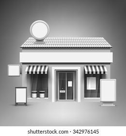 Vorlage für Werbung und Unternehmensidentität. Lagerung. Blank mock up for design. Vektorweißes Objekt