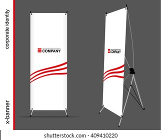 Template for advertising and corporate identity. Advertising x-banner. Mockup for design.