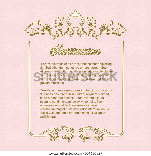 Template Anniversary Wedding Invitation Card Floral Stock