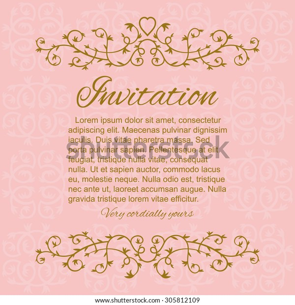 Template Anniversary Wedding Invitation Card Floral