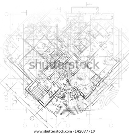 Template Architectural Design Elements Your Business Stock Vector