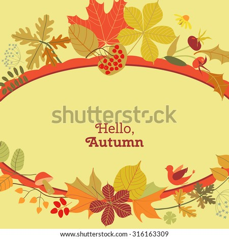 template autumn invitations postcards advertising posters stock