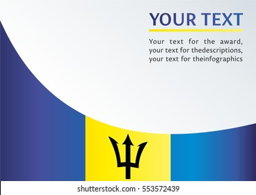 template for the award, an official document from the flag State of the island of Barbados