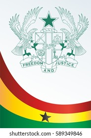 template for the award, an official document with the flag and symbol of Republic of Ghana