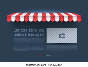 Template of a awning for business report. Vector illustration for poster promotion and advertising.