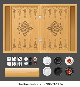 Template for backgammon game