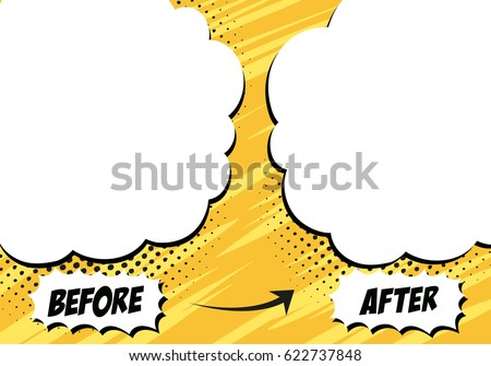 template background before after comics style stock vector royalty