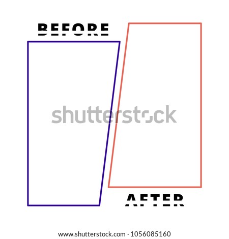 template background before after vector illustration stock vector