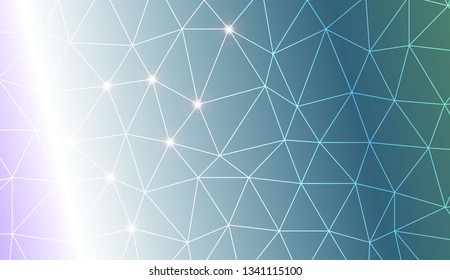 Template background with curved line. Triangles style. Background for your business project. Advert, template screen. Vector illustration. Creative gradient color