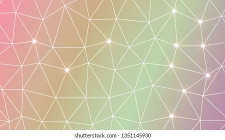 Template background with curved line. Triangles style. For your home interior wallpaper, fashion print. Vector illustration. Blurred Background, Smooth Gradient Texture Color