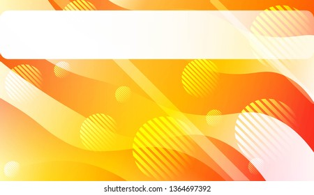 Template Background With Wave Geometric Shape, Lines, Circle. For Design, Presentation, Business. Vector Illustration.