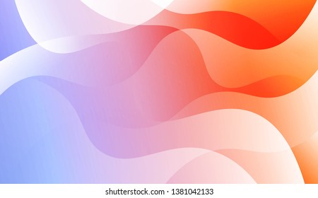 Template Background With Wave Geometric Shape. For Template Cell Phone Backgrounds. Vector Illustration with Color Gradient