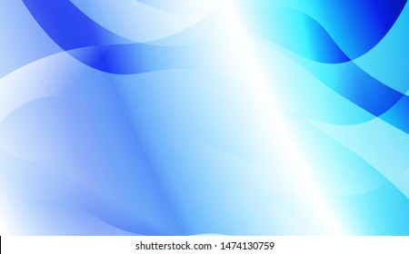 Template Background With Wave Geometric Shape. For Design, Presentation, Business. Vector Illustration with Color Gradient