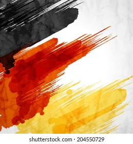 Template background.German flag made of colorful splashes