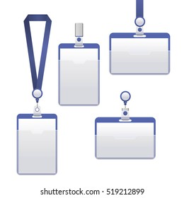 Template Badge Identification Set Can Be Used for Presentation, Company or Office. Empty Mock Up. Vector illustration