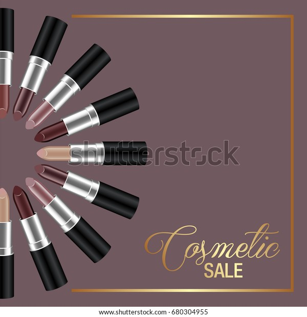 Template Banner Design Cosmetic Sale Stock Vector Royalty Free 680304955
