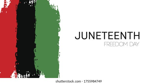 Template banner with hand draw Juneteenth Freedom Day flag in vector format. Juneteenth symbol background. Concept design