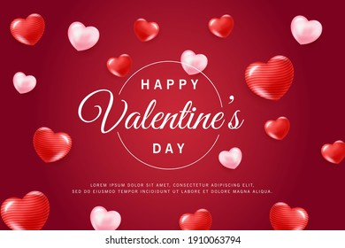 Template banner valentines day background