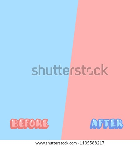 template before after background comparison card stock vector