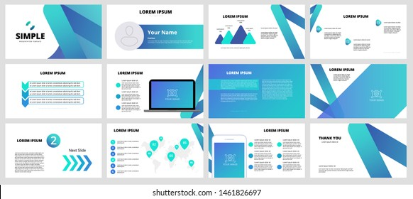 Template is the best as a business presentation, used in marketing and advertising, flyer and banner, the annual report. Elements on a dark grey background