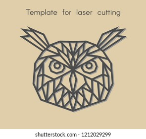template bird laser cutting abstract geometric stock vector royalty