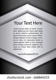 Template Black, Silver and White Pattern