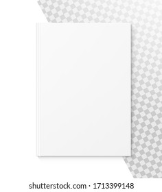 Template of blank cover book isolated on white background. Vector illustration. It can be used for promo, catalogs, brochures, magazines, etc. Ready for your design.EPS10.