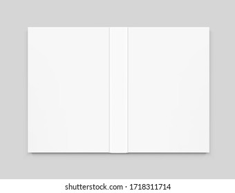 Template of blank cover book on grey background. Vector illustration. It can be used for promo, catalogs, brochures, magazines, etc. Ready for your design. EPS10.