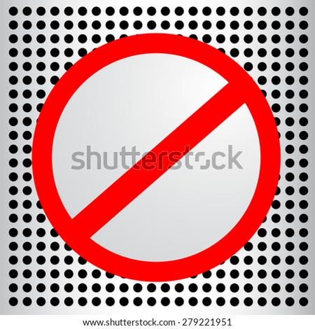 template blank sign not allowed stock vector royalty free