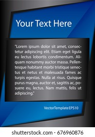 Template Blue, Black and White Pattern