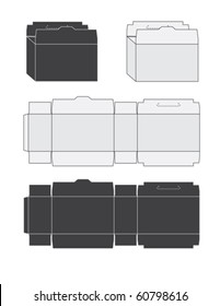 Template of a box